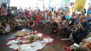 Roda de conversa na tenda Paulo Freire. Foto: Marina Baldoni