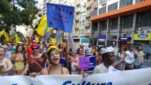 Marcha de abertura do FSM. Foto: Marina Baldoni