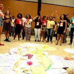 Mandala na plenária de adolescentes. Foto: Paula Fróes